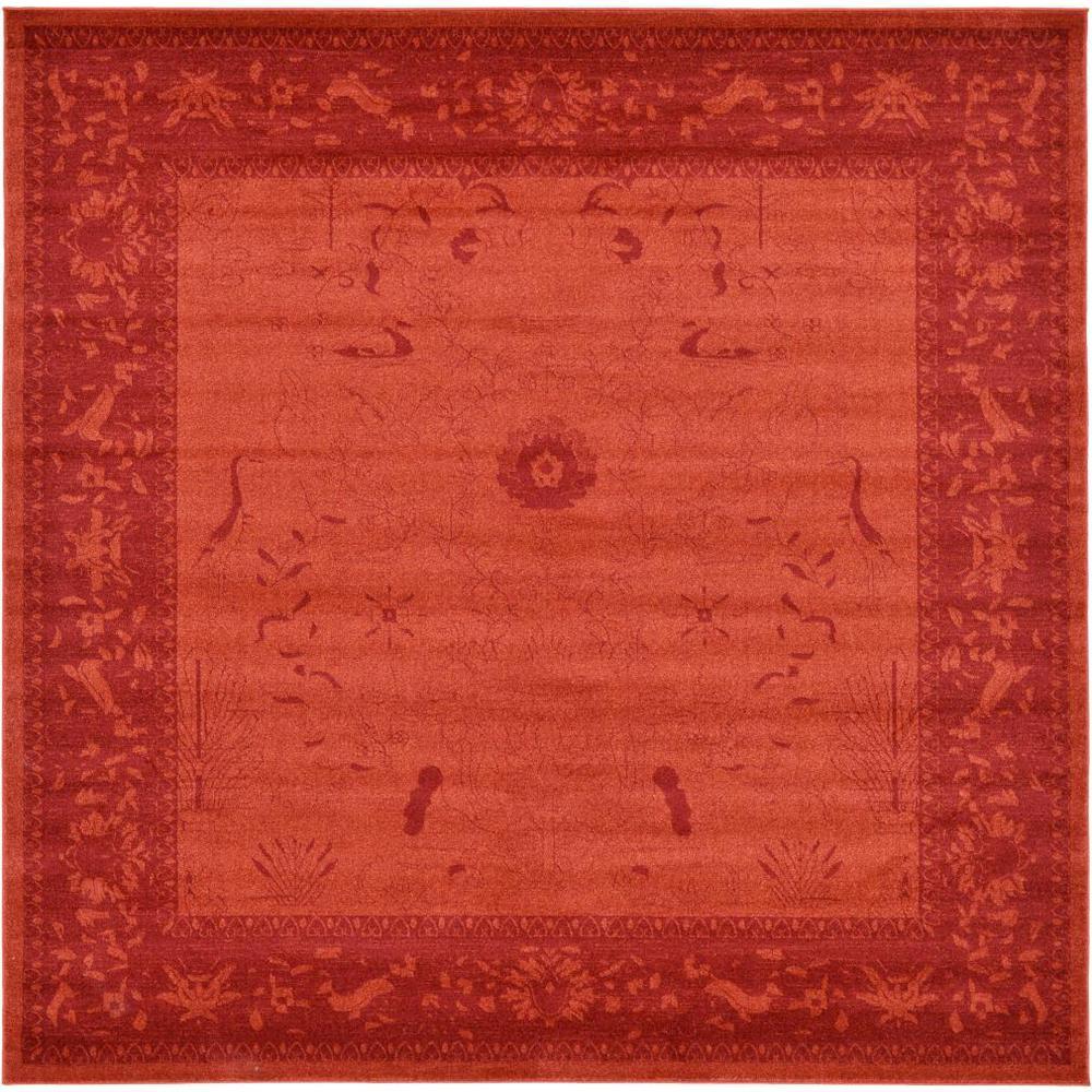 La Jolla Rust Red 10' x 10' Square Rug