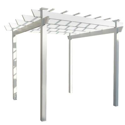 Kingston 7 ft. x7 ft. White Vinyl Pergola