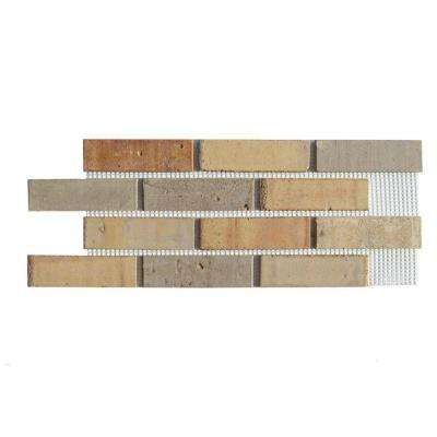 27 in. x 48 in. x 0.5 in. Pony Express Brickweb Thin Brick Flats