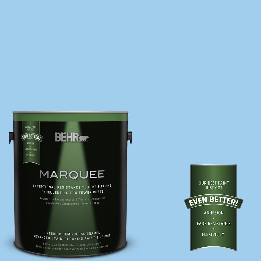 BEHR MARQUEE 1-gal. #P510-2 Mediterranean Charm Semi-Gloss Enamel Exterior Paint