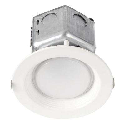 65-Watt Equivalent 10-Watt 4 in. Dimmable White Integrated LED Recessed Canless Retrofit Trim 120-277V Warm White 99610