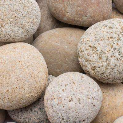 2 in. to 3 in., 2200 lb. Buff Cabo Beach Pebbles Super Sack