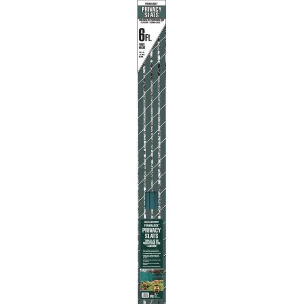 6 ft. H x 10 ft. W Green Perma-Lock Double Wall Privacy Slats