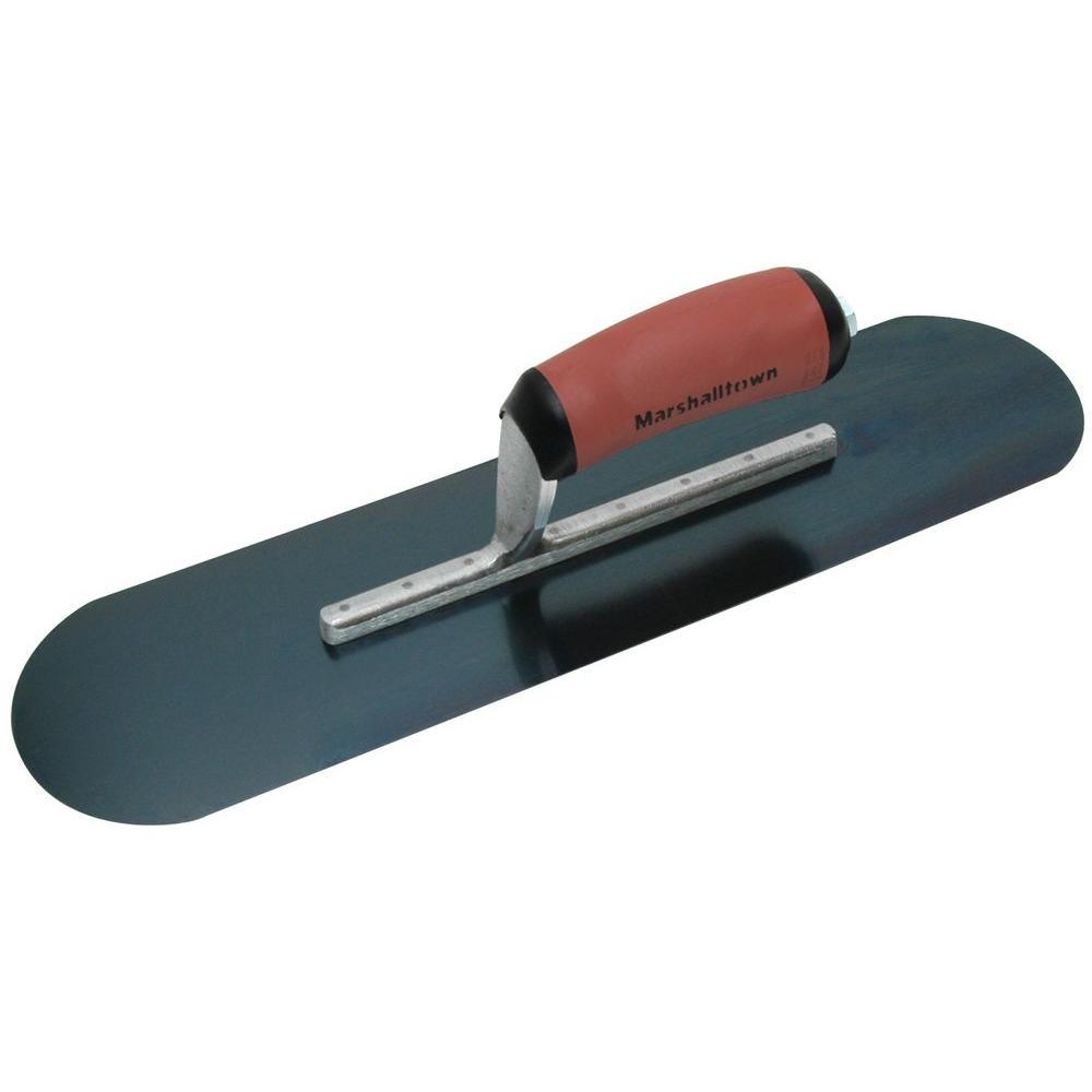 16 in. x 4-1/2 in. Blue Steel Pool Trowel- Durasoft Handle