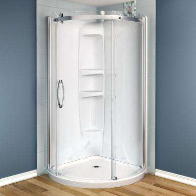 Olympia 36 in. x 36 in. x 78 in. Shower Stall in White