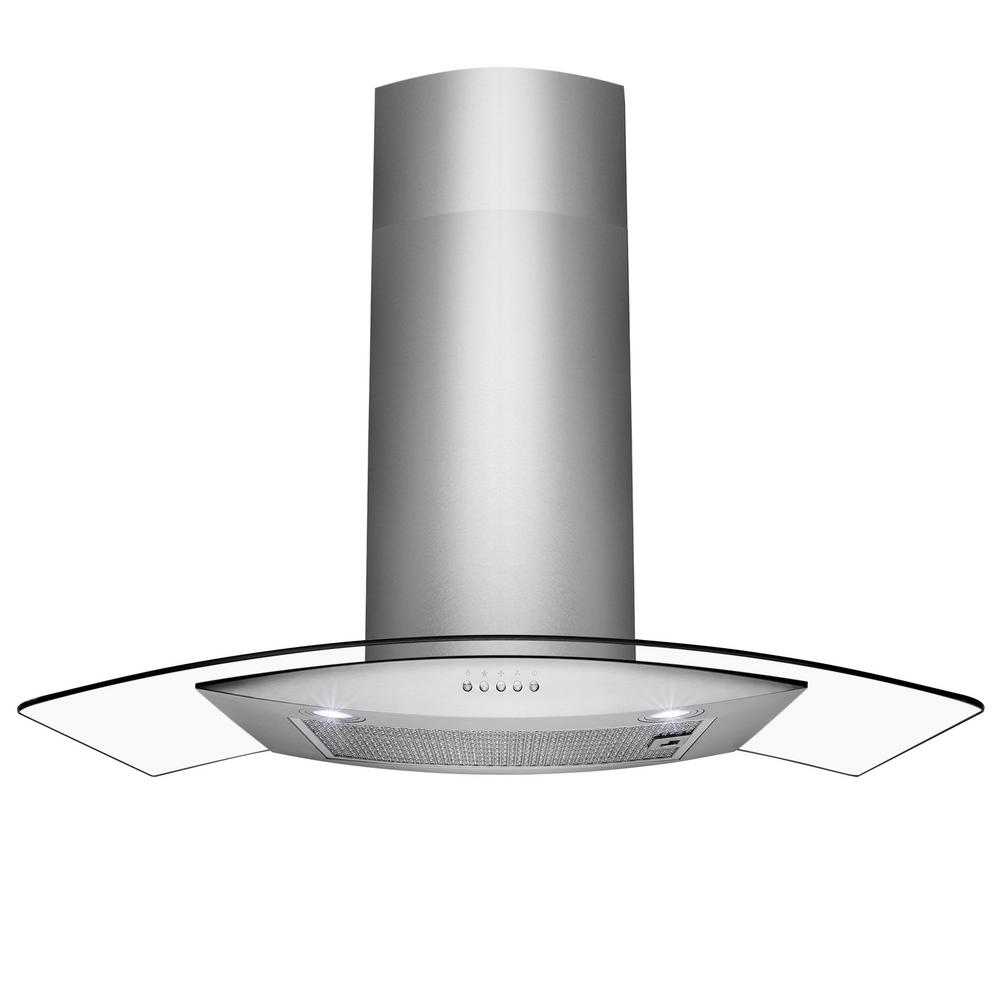 Akdy 30 In Convertible Wall Mount Range Hood In Stainless