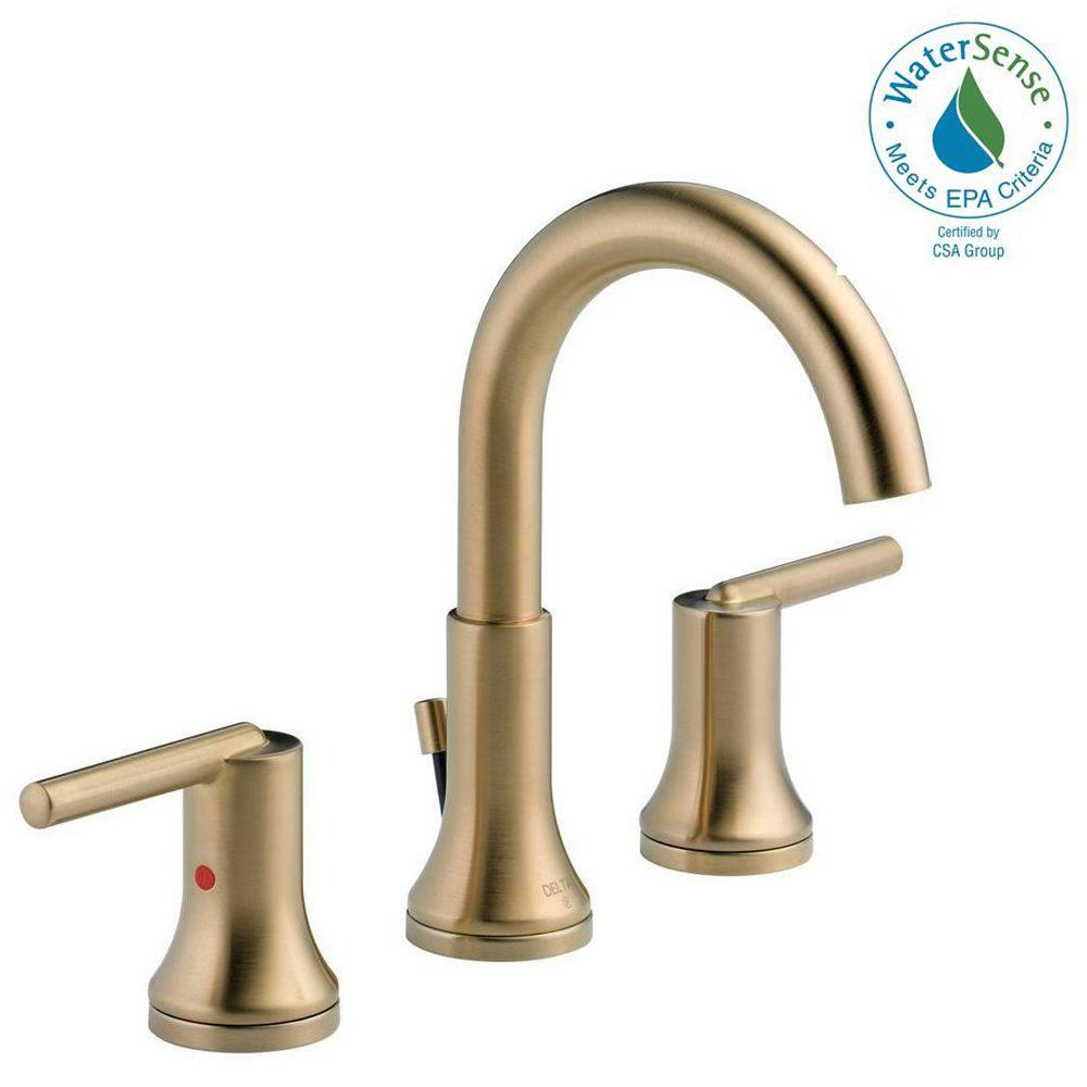 Delta Trinsic 8 in. Widespread 2-Handle Bathroom Faucet with Metal ...