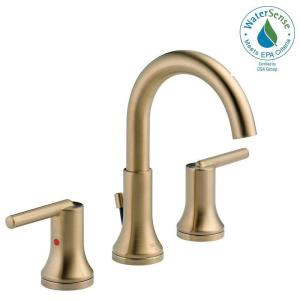 Trinsic 8 in. Widespread 2-Handle Bathroom Faucet with Metal Drain Assembly in Champagne Bronze