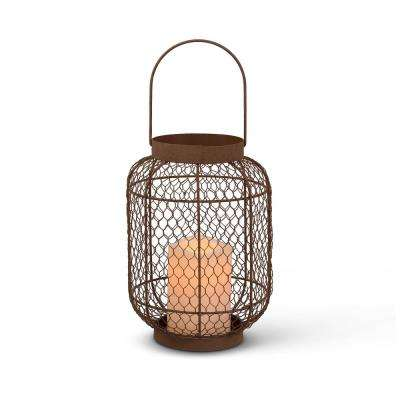 10 in. Rustic Wire Lantern