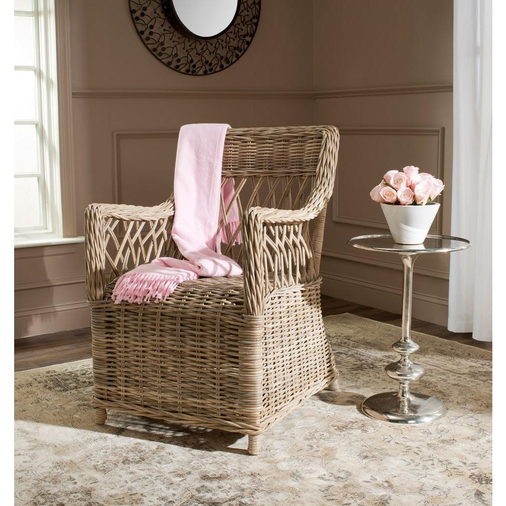 Safavieh Hinaku Natural Rattan Arm Chair