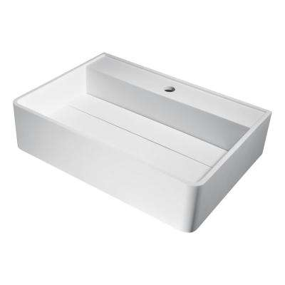 Tilia Vessel Sink in Matte White