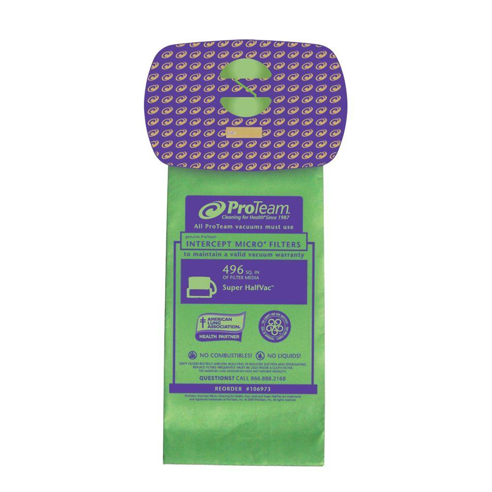 ProTeam 6 qt. Intercept Micro Filter Bag with Closed Collar (10-Pack)