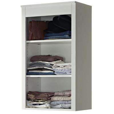 16 in. D x 24 in. W x 42 in. H Parisian White Wood Closet System Top Shelf Unit