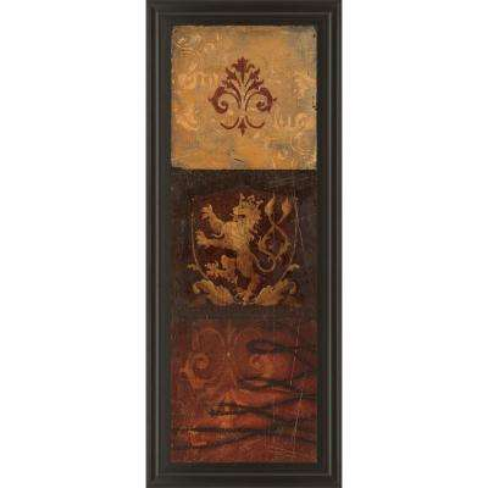 """18 in. x 42 in. """"Regal Panel II"""" by Avery Tillmon Framed Printed Wall Art"""