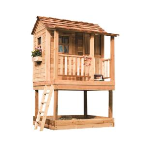 Little Squirt Playhouse With Sandbox LSP66SS   The Home Depot