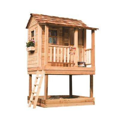 6 ft. x 6 ft. Little Squirt Playhouse with Sandbox