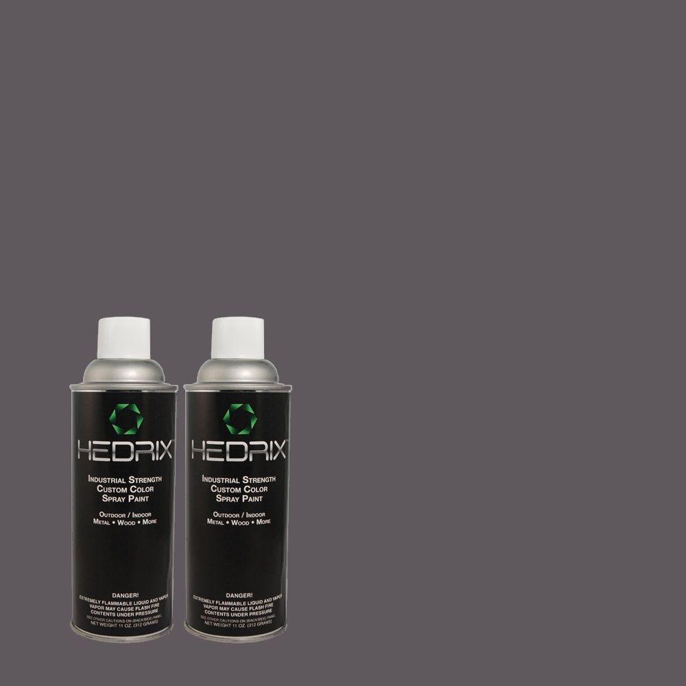 Hedrix 11 oz. Match of 5C19-3 Dark Hour Low Lustre Custom Spray Paint (2-Pack)