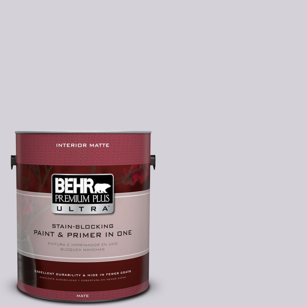 BEHR Premium Plus Ultra 1 gal. #N100-2 Etude Lilac Matte Interior Paint