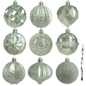 80 mm Assortment Ornament in Silver (75-Count)