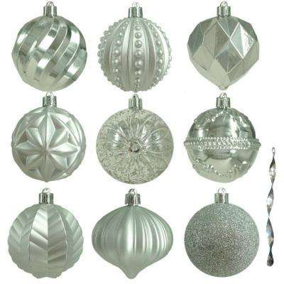 80 mm assortment ornament in silver 75 count