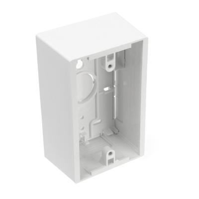 1-Gang 1.89 in. Box Depth Surface Mount Back Box, White