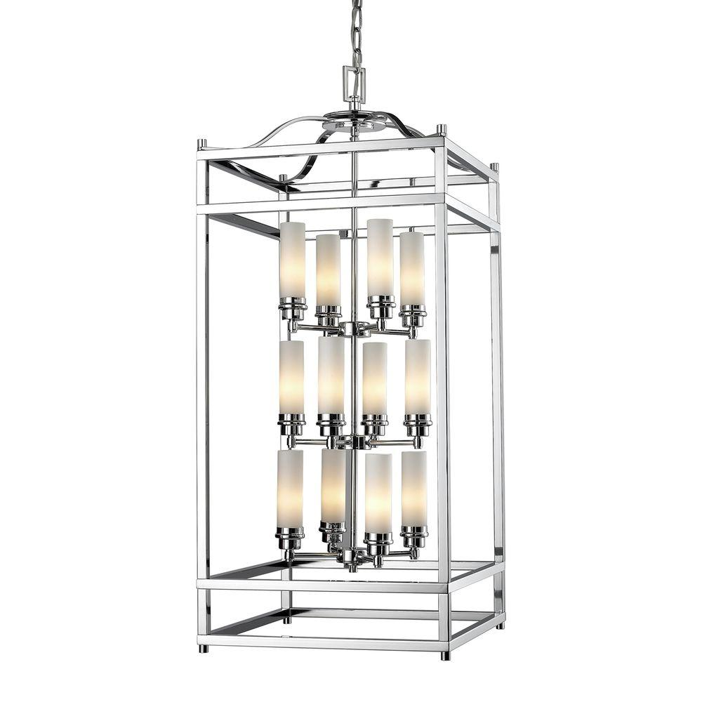 Filament Design Lawrence 12-Light Chrome Candelabra Ceiling Pendant