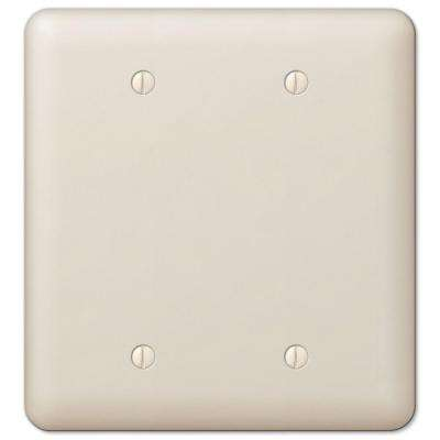 Devon 2 Blank Wall Plate - Almond