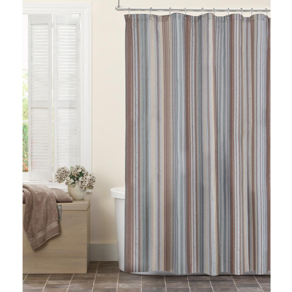 Jodie Stripe Fabric 72 In X Shower Curtain