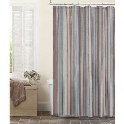 Jodie Stripe Fabric 72 In X Shower Curtain