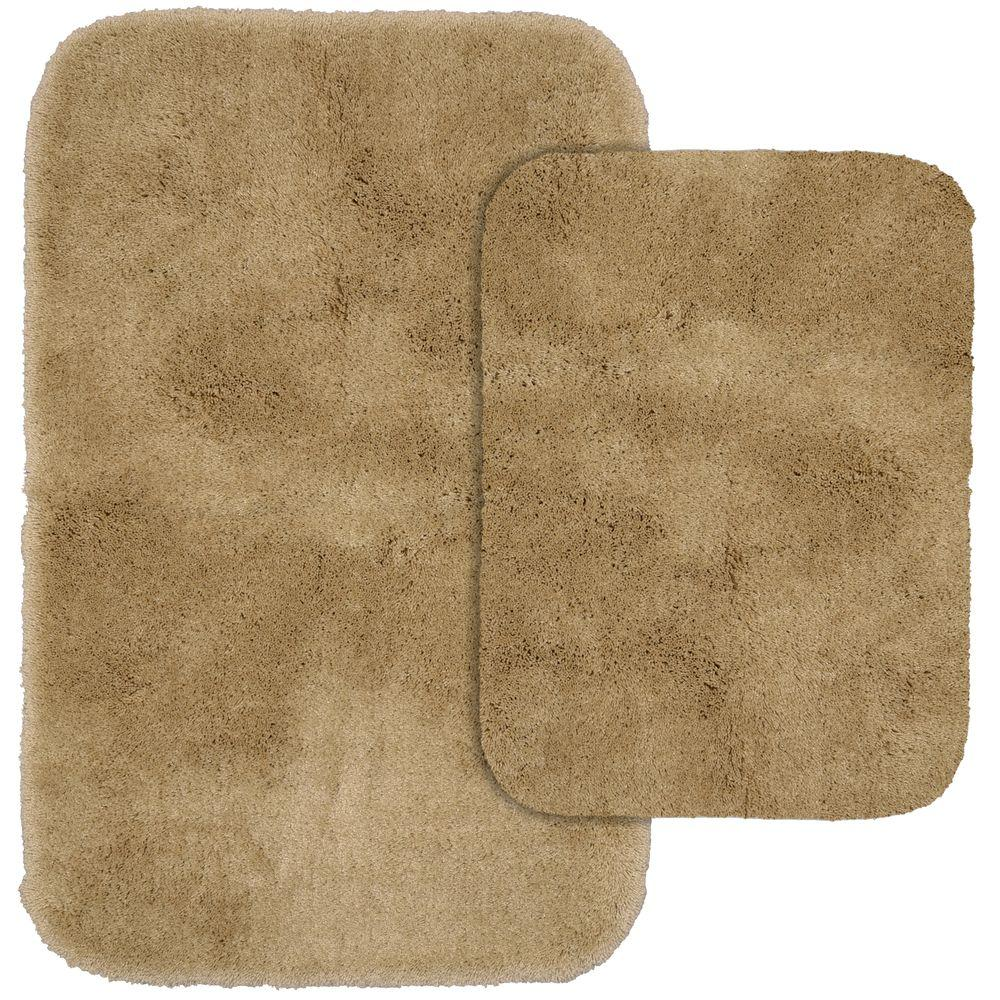 Garland Rug Finest Luxury Taupe 21 In X 34 Washable Bathroom 2