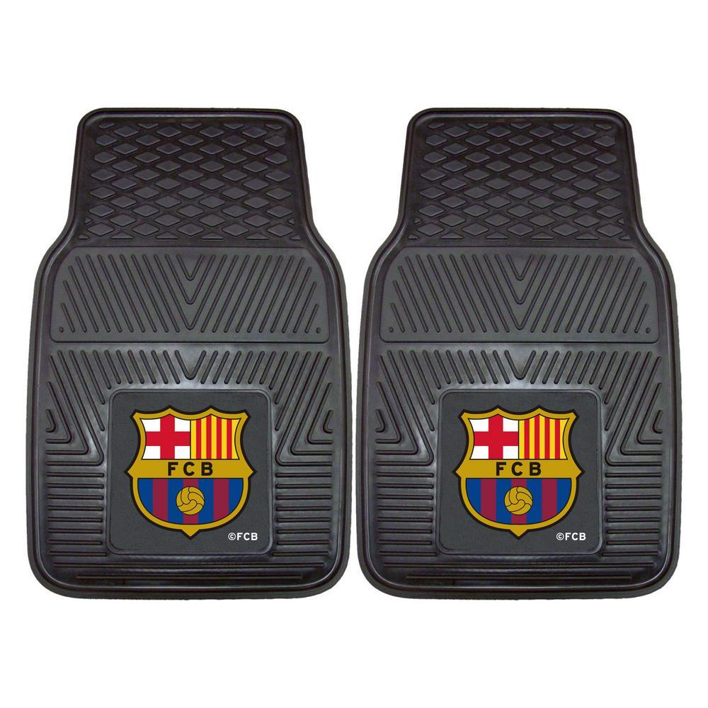 FC Barcelona Black 2-pc 27 in. x 17 in. Vinyl Car Mat Set