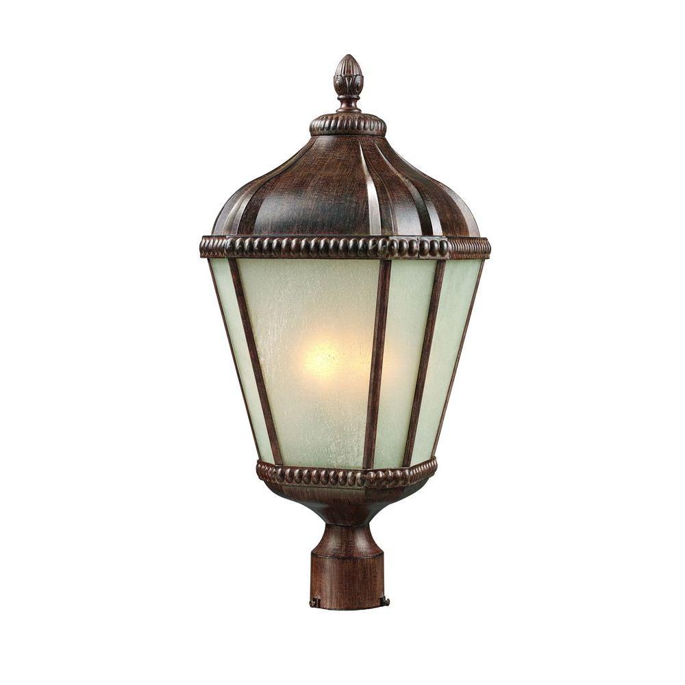 Tulen Lawrence 3-Light Outdoor Weathered Bronze Incandescent Post Light