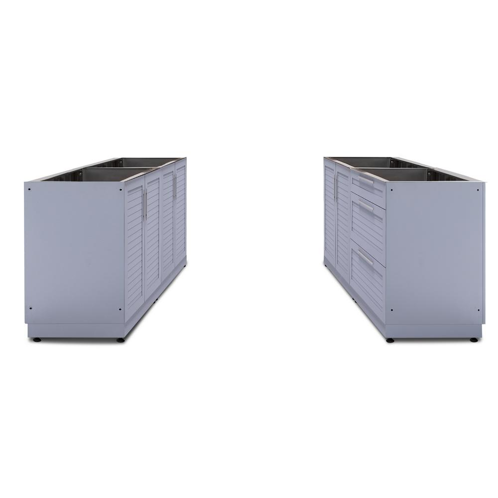 NewAge Products Coastal Gray 4-Piece 128 in. W x 36.5 in. H x 24 ...