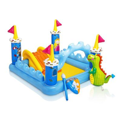 Inflatable Fantasy Castle and Rainbow Ring Water Play Swimming Pool Center