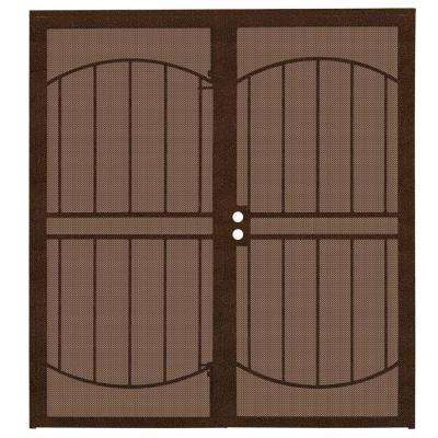 72 in. x 80 in. Arcada Copper Surface Mount Outswing Steel Double Security Door with Expanded Metal Screen