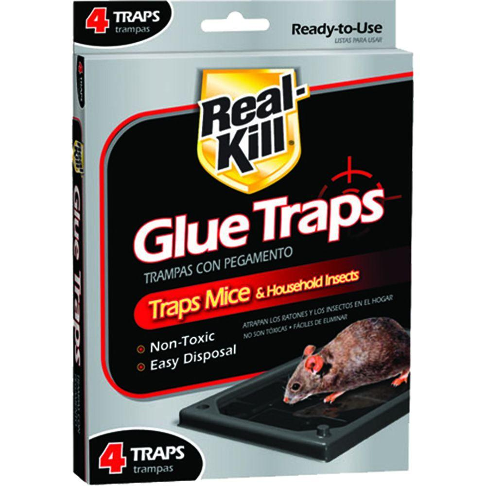 Real-Kill Mouse Glue Traps (4-Pack)