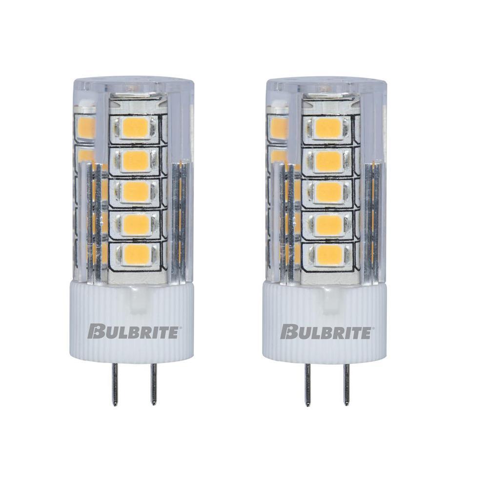 Bulbrite 30-Watt Equivalent JC Non-Dimmable Bi-Pin (G4) LED Light Bulb Soft White Light (2-Pack)