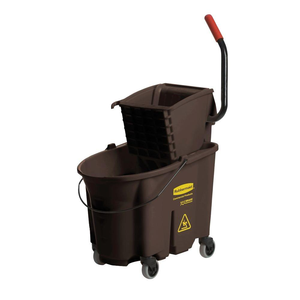 Rubbermaid Commercial Products Wave Brake 35 Qt Brown