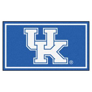 NCAA University of Kentucky 3 ft. x 5 ft. Ultra Plush Area Rug