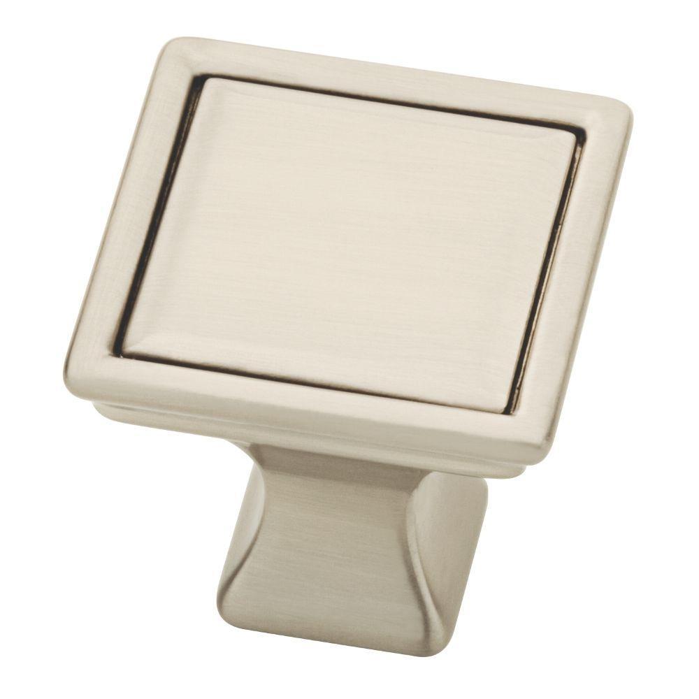Vista 1-1/4 in. (32mm) Satin Nickel Square Cabinet Knob