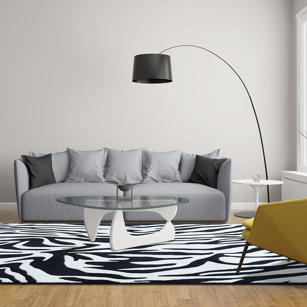 Lanart Zebra Black 8 ft. x 10 ft. Area Rug