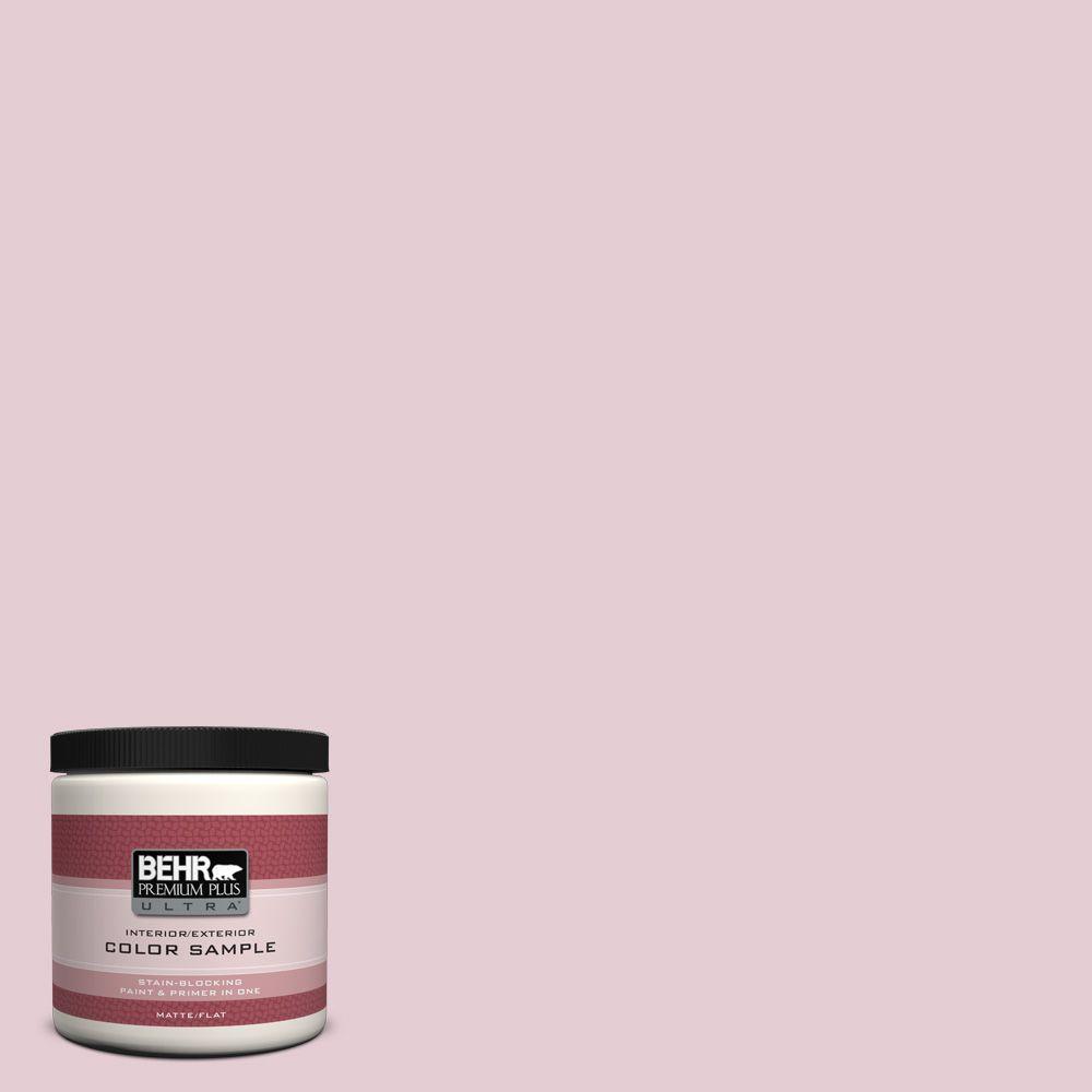 BEHR Premium Plus Ultra 8 oz. #100C-2 Cool Pink Interior/Exterior Paint Sample