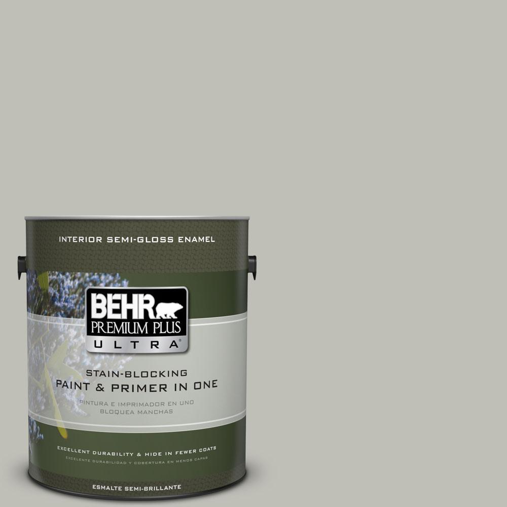 BEHR Premium Plus Ultra 1-gal. #N370-3 Light Year Semi-Gloss Enamel Interior Paint
