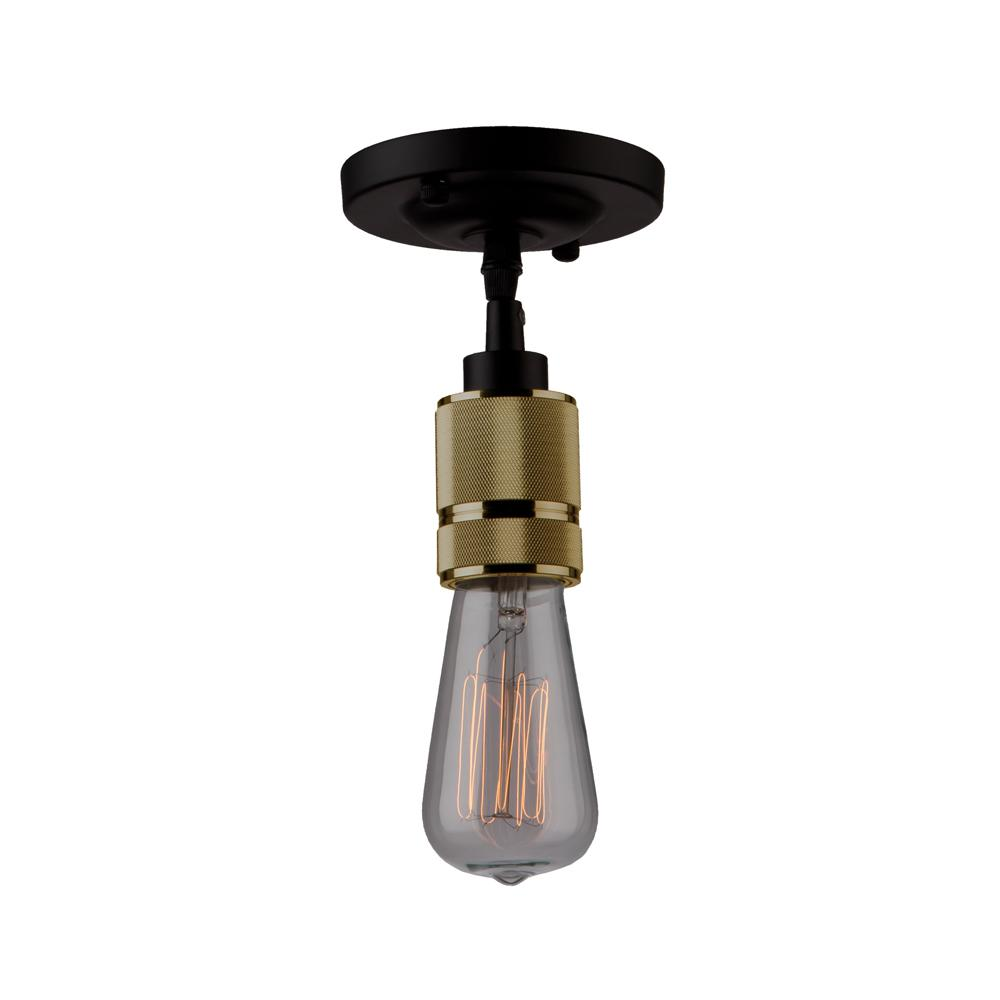 1-Light Vintage Brass Pendant