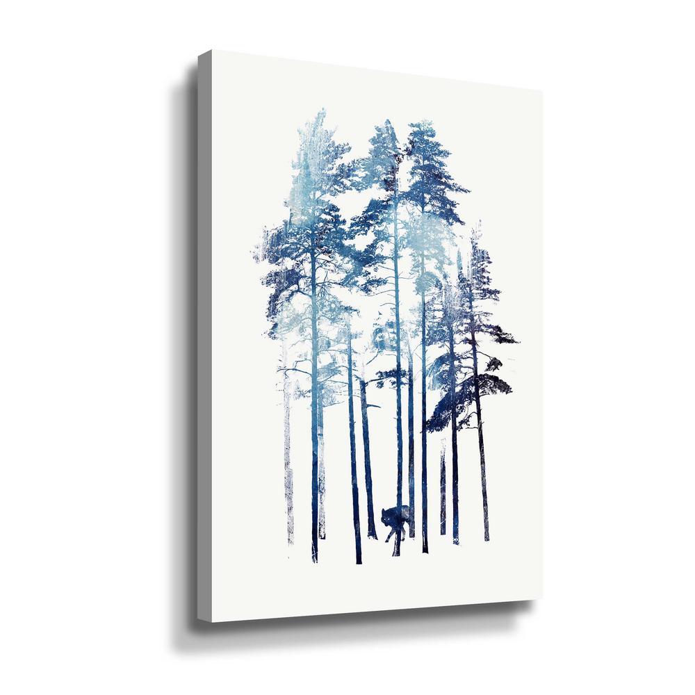 'Winter Wolf' by  Robert Farkas Canvas Wall Art
