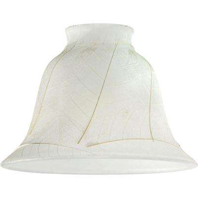 4-1/2 in. Parchment Leaf Shade with 2-1/4 in. Fitter and 6 in. Width