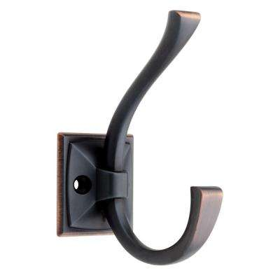 Ruavista 4-1/3 in. Venetian Bronze with Copper Highlights Coat and Hat Hook