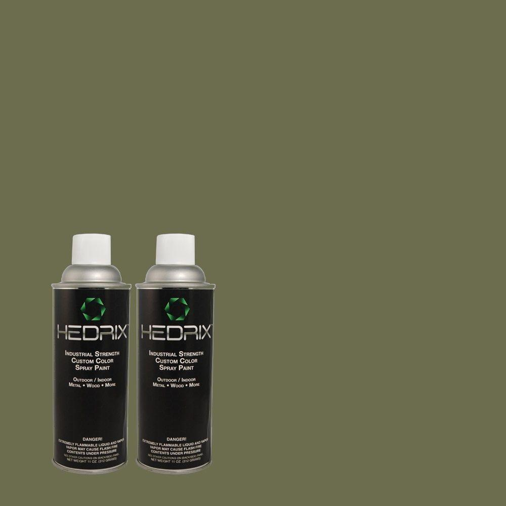 Hedrix 11 oz. Match of PPU11-19 Lakeside Pine Low Lustre Custom Spray Paint (2-Pack)