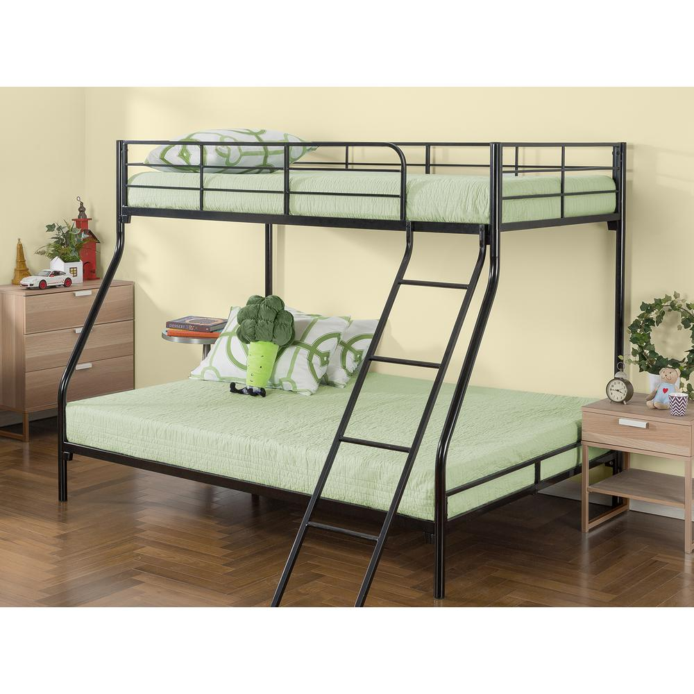 Zinus Quick Lock Twin Over Full Metal Bunk Bed