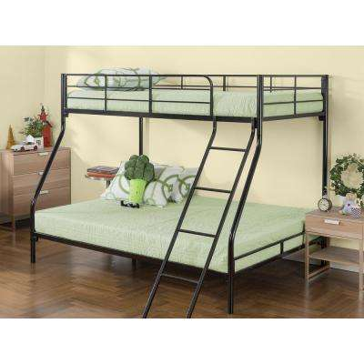 Hani Easy Assembly Quick Lock Metal Bunk Bed, Quick To Assemble in Under an Hour, Twin over Full